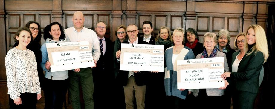 Service Clubs spenden 15.000 Euro